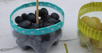 Készíts PET palackból gyümölcstartót!