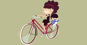 Babaszállítás biciklivel