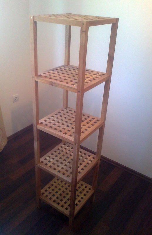 Fa fürdőszoba polc, újszerű, karcolásmentes / egyéb / Fórum