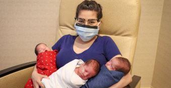 Hármas ikreket szült az anya, miután legyőzte a koronavírust