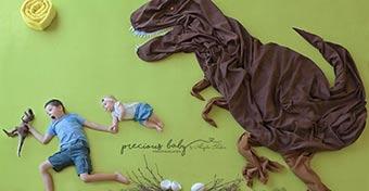Elképesztően kreatív fotókat készít újszülöttekről egy fotós