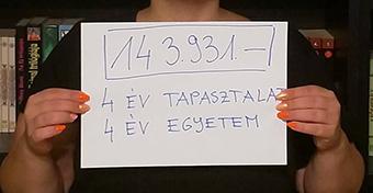 Fizetési fotókkal demonstrálnak a tanárok