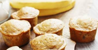Banános-zabpelyhes muffin