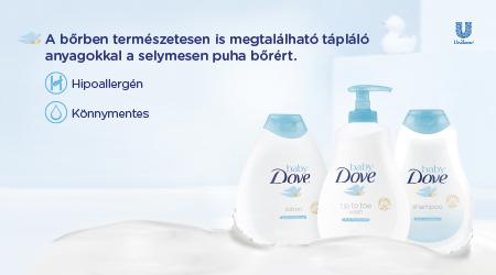 A Baby Dove 5 tippje a babák bőrének ápolásához