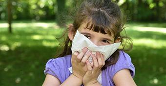 A pollenszezon a gyerekeket sem kíméli