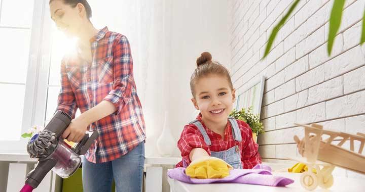 5 képesség, amit a gyerek elsajátít, ha házimunkát végez