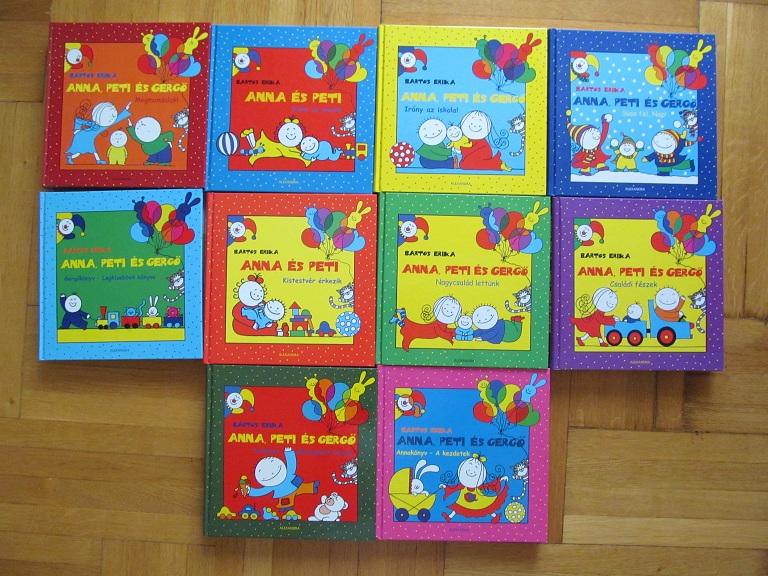 1d09f98f4 Bartos Erika: Anna, Peti és Gergő könyvek / játék / Fórum